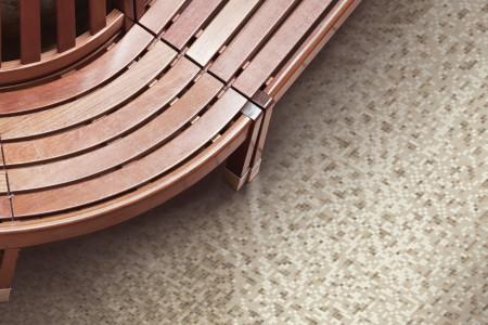 Brown weave patterns  Textural Mosaic installation by Artaic