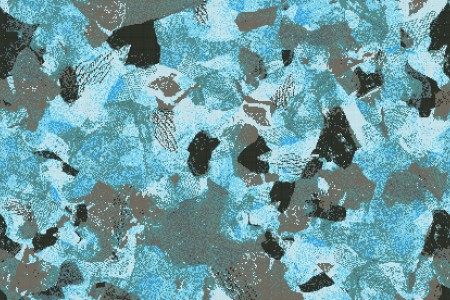 Turquoise cutouts  Textural Mosaic by Artaic