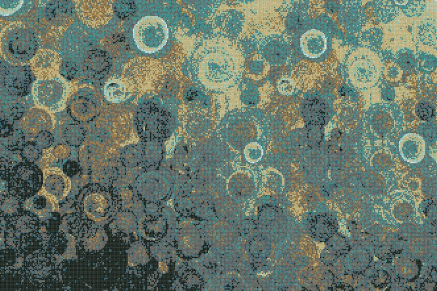 Turquoise effervescence  Abstract Mosaic by Artaic