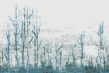Turquoise forest  Abstract Mosaic by Artaic