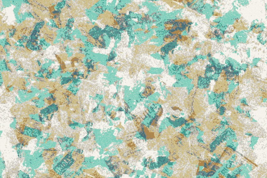 Turquoise layering  Textural Mosaic by Artaic