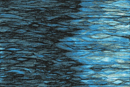 Turquoise water  Textural Mosaic by Artaic