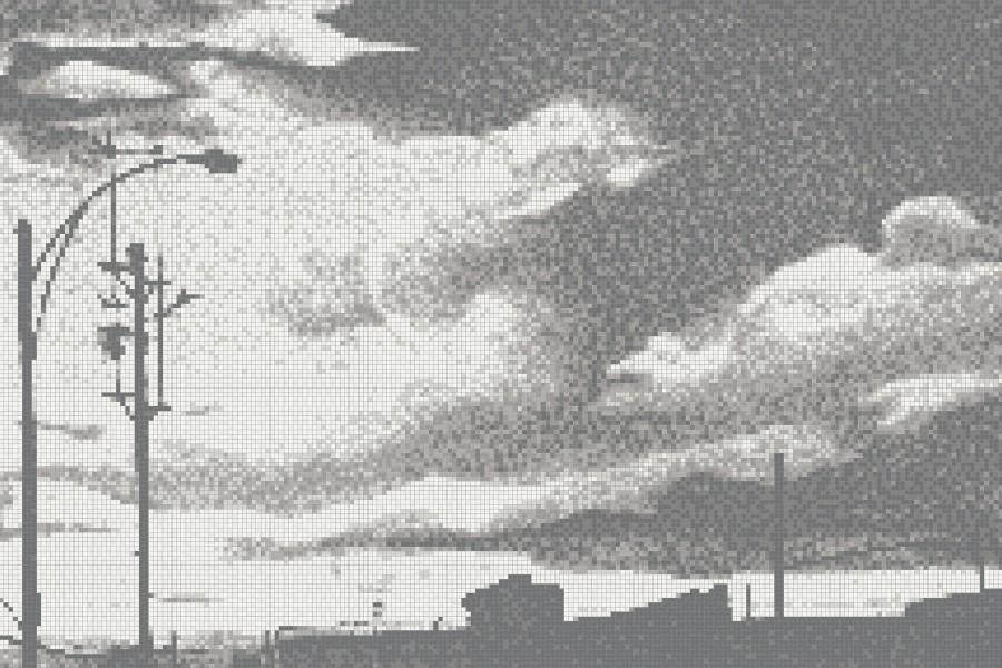 White clouds  Photorealistic Mosaic by Artaic