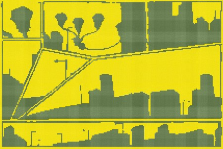 Yellow building structures  Graphic Mosaic by Artaic