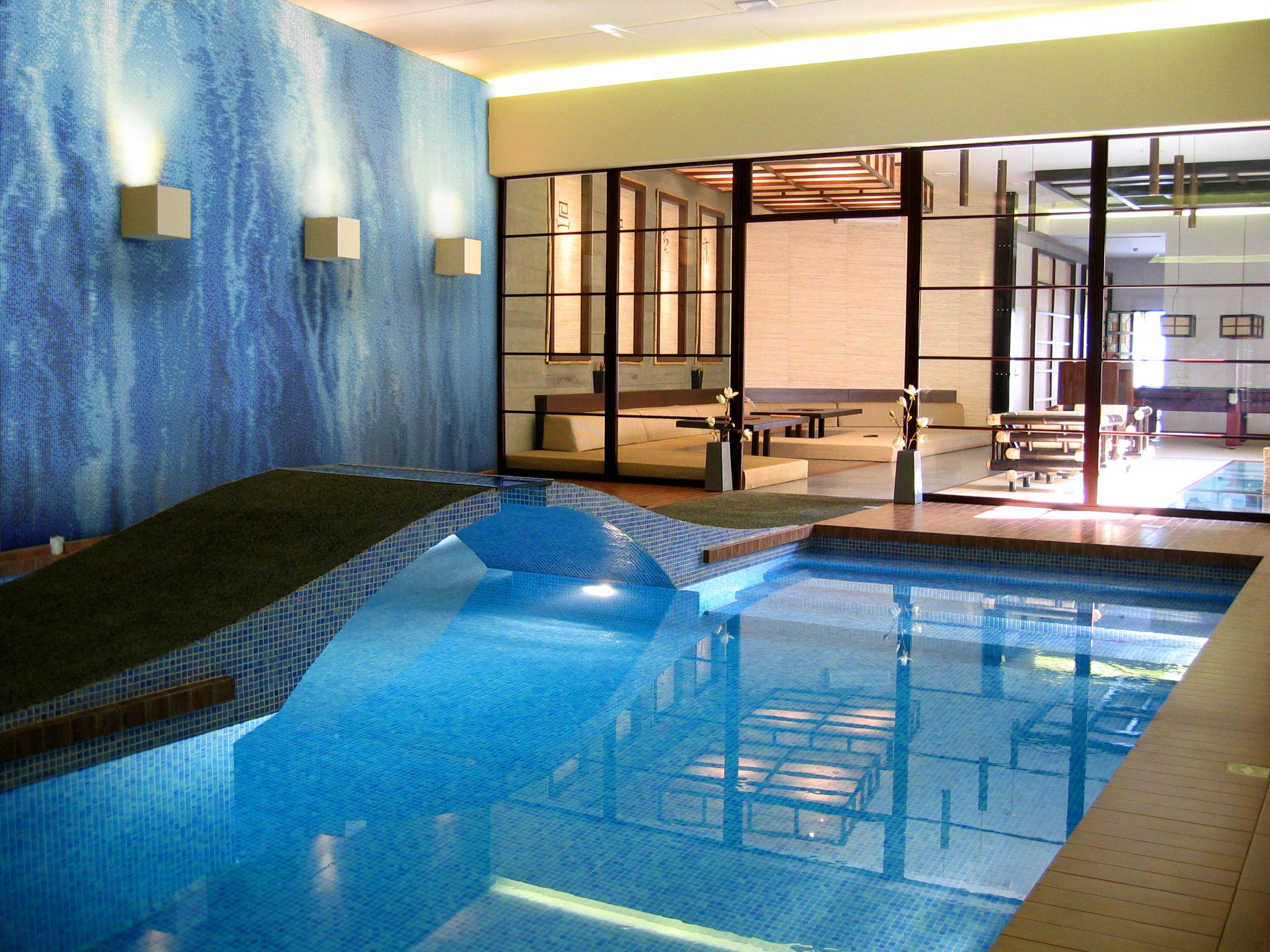 bubbling water tile design pool mosaic | artaic