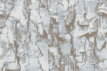 Blue distressed texture Contemporary Textural Mosaic by Artaic