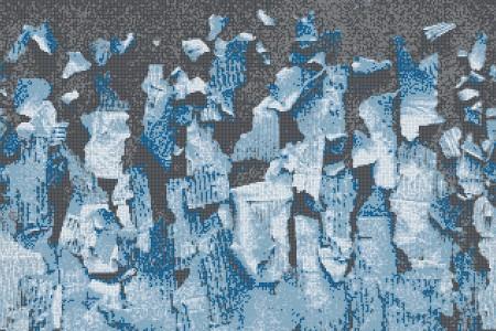 Blue natural materials Contemporary Textural Mosaic by Artaic