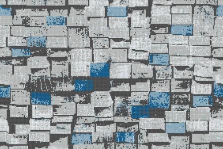 Blue reclaimed lumber Contemporary Textural Mosaic by Artaic