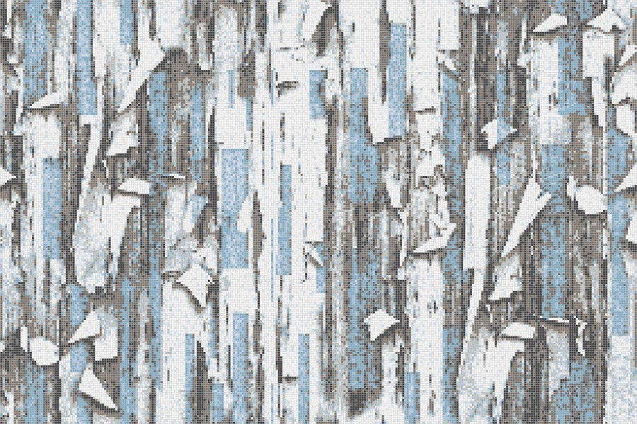 Blue tree bark Contemporary Textural Mosaic by Artaic