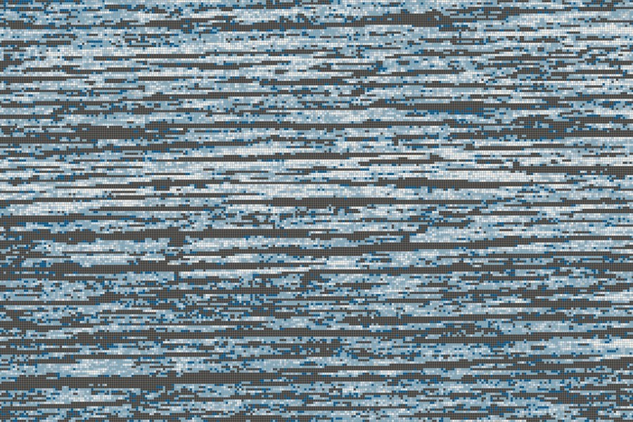 Blue Wood Grain Tile Pattern Splintered Lake By ARTAIC