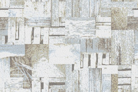 Blue wooden pallets Contemporary Textural Mosaic by Artaic