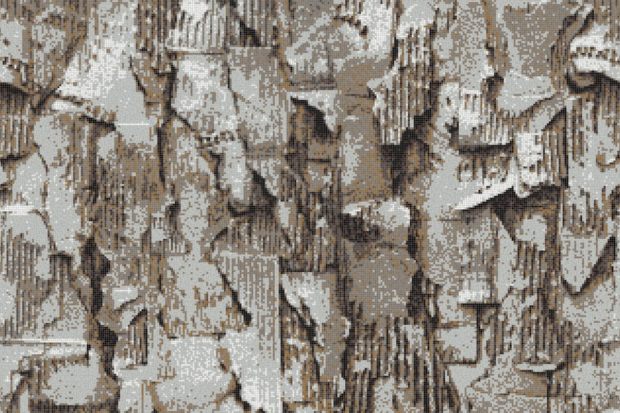 Brown distressed texture Contemporary Textural Mosaic by Artaic