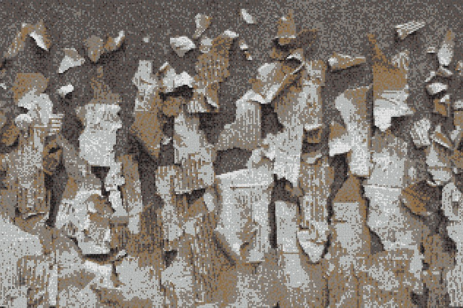 Brown natural materials Contemporary Textural Mosaic by Artaic