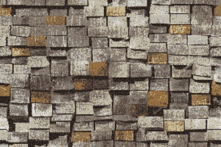 Brown reclaimed lumber Contemporary Textural Mosaic by Artaic