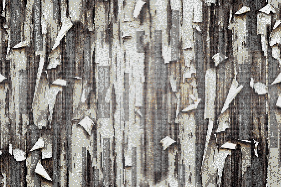 Brown tree bark Contemporary Textural Mosaic by Artaic