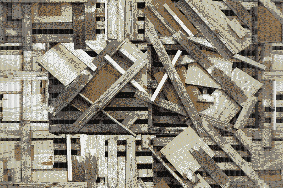 Brown wooden pallets Contemporary Textural Mosaic by Artaic
