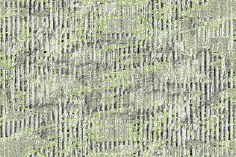 Green cardboard Contemporary Textural Mosaic by Artaic