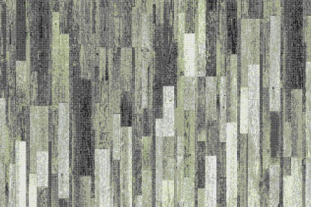 Green reclaimed wood Contemporary Textural Mosaic by Artaic