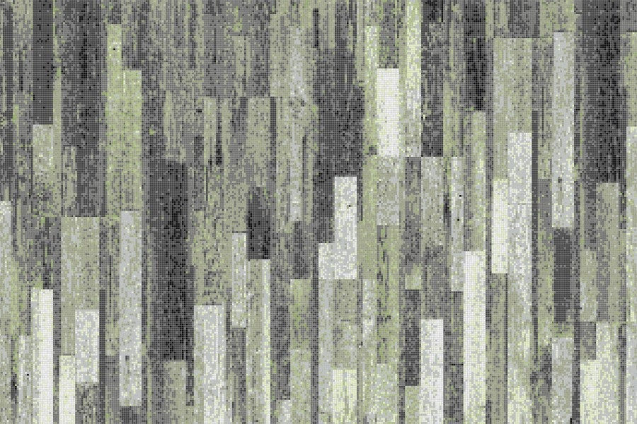 Green Reclaimed Wood Tile Pattern Timber Virid By Artaic