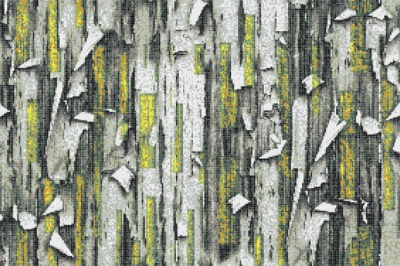 Green tree bark Contemporary Textural Mosaic by Artaic