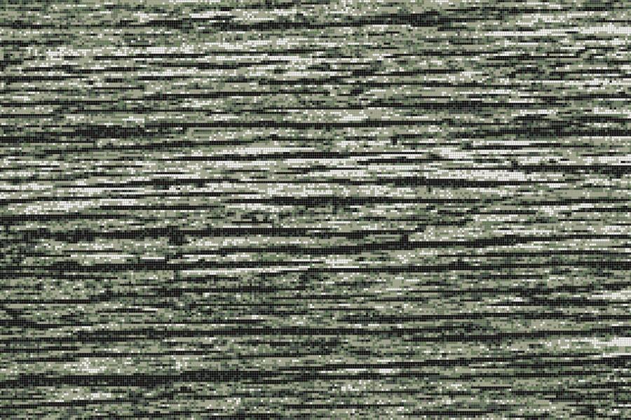 Green wood grain Contemporary Textural Mosaic by Artaic