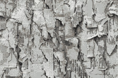 Grey distressed texture Contemporary Textural Mosaic by Artaic
