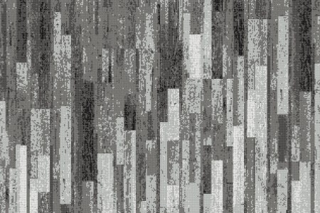 Grey reclaimed wood Contemporary Textural Mosaic by Artaic
