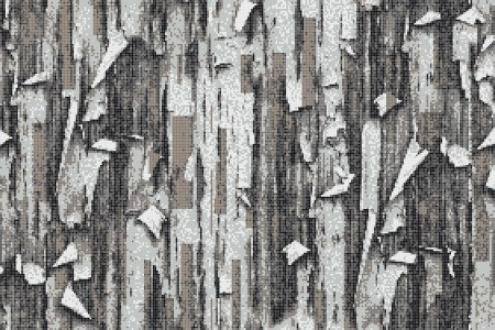 Grey tree bark Contemporary Textural Mosaic by Artaic