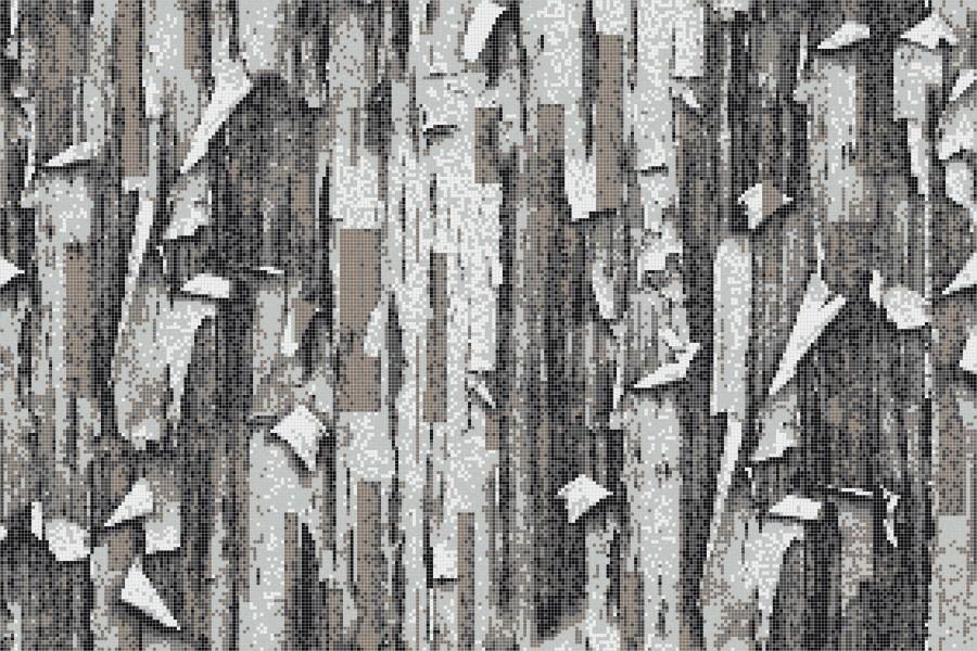Grey tree bark Contemporary Textural Mosaic by Artaic