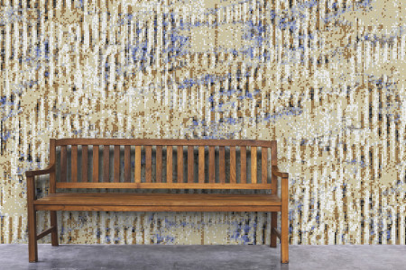 Brown cardboard Contemporary Textural Mosaic installation by Artaic