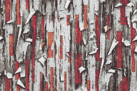 Red tree bark Contemporary Textural Mosaic by Artaic