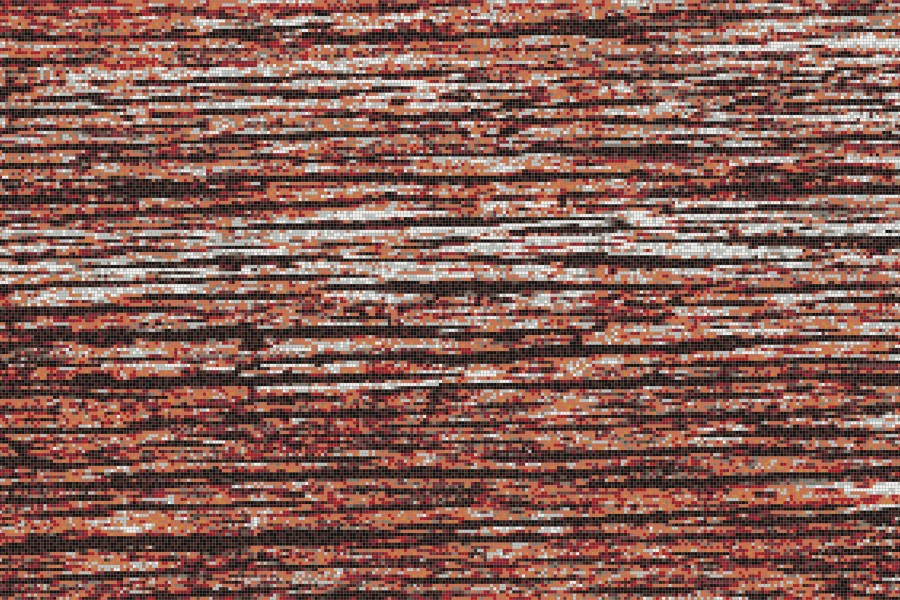 Red wood grain Contemporary Textural Mosaic by Artaic
