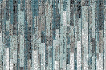Turquoise reclaimed wood Contemporary Textural Mosaic by Artaic