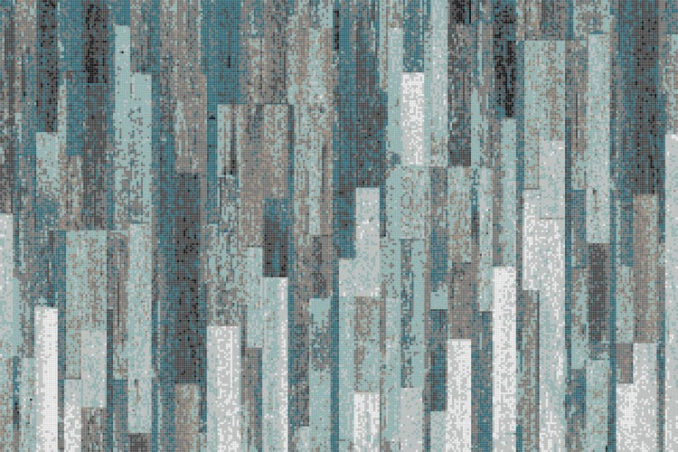Turquoise Reclaimed Wood Tile Pattern Timber Turquoise