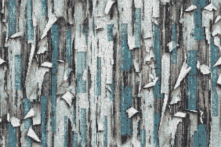 Turquoise tree bark Contemporary Textural Mosaic by Artaic