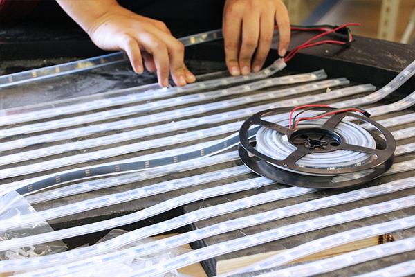 legal crossing bergmeyer backlit led orange table restaurant mosaic production process