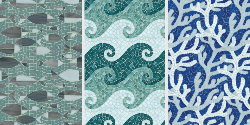 Top Pool Design Tips Water Glass Tile Mosaics From New Ravenna