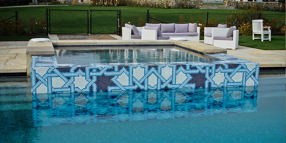 Mosaic Tile Pool Designs best 10 swimming pool tiles ideas on pinterest pool tiles lap pools and outside tiles Top Pool Design Tips Custom Lombardi Residential Glass Tile Mosaic By Artaic