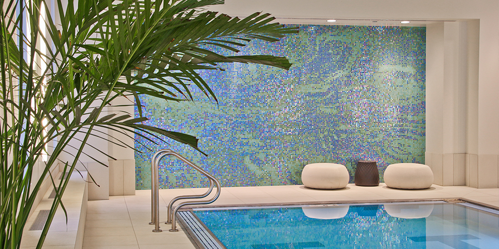 Top Pool Design Tips   Water Inspired Glass Tile Mosaic By Artaic For  OneEleven Wacker
