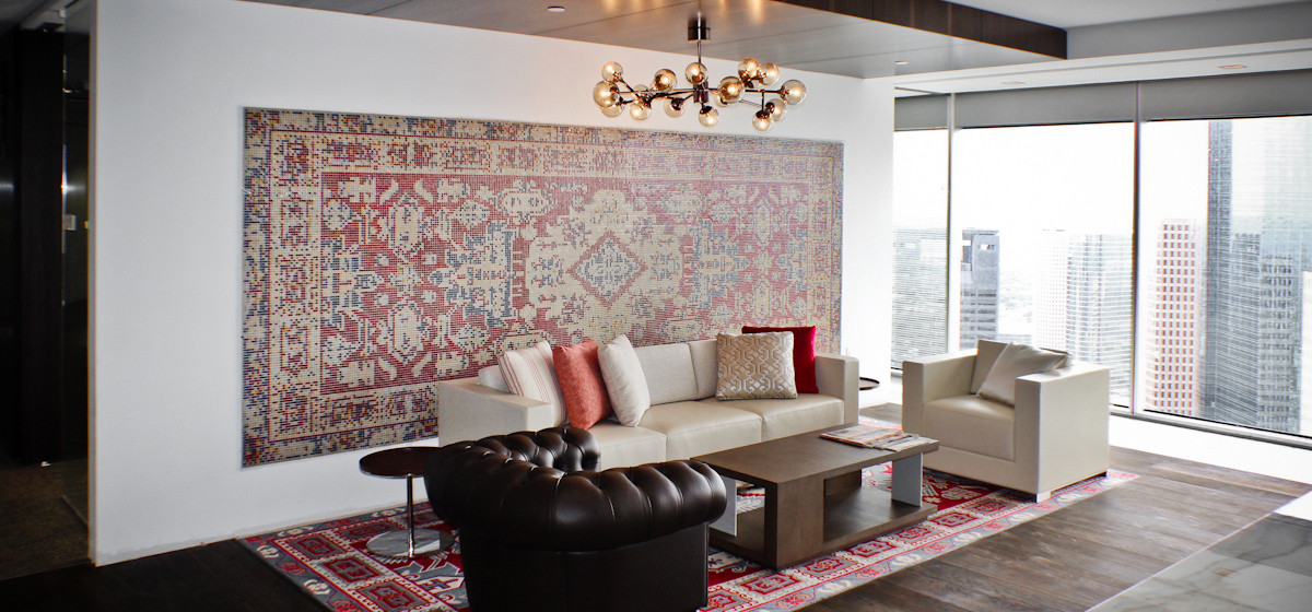 01134041 red ornamental traditional rug pattern tile design houston residential wall mosaic mural