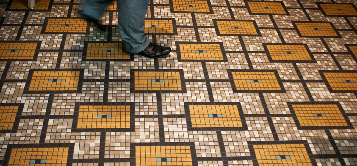 01121042 Empire Restaurant Geometric Flooring Mosaic Tile Pattern Artaic