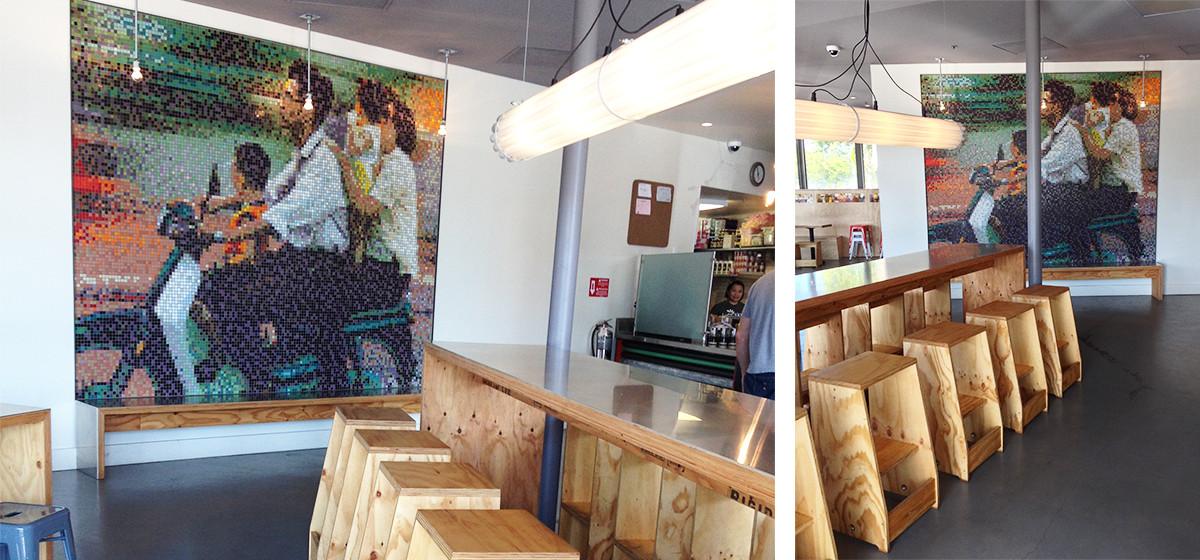Spice Kit Restaurant Custom Photorealistic Wall Mosaic Mural   Artaic