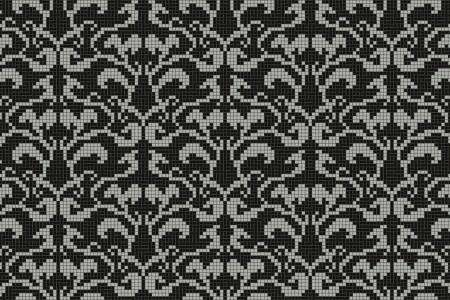 black textiles Traditional Ornamental Mosaic by Artaic