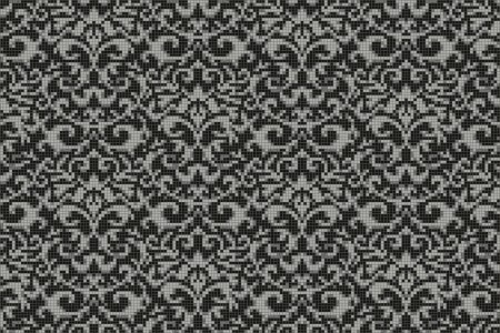 black textiles Traditional Ornamental Mosaic by Artaic