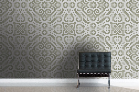 neutral textiles Traditional Ornamental Mosaic installation by Artaic