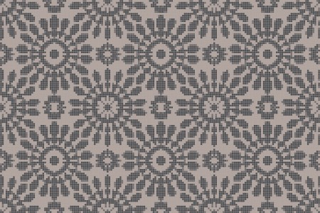 gray textiles Traditional Ornamental Mosaic by Artaic
