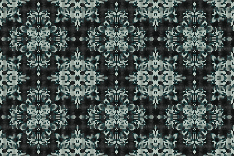 green textiles Traditional Ornamental Mosaic by Artaic