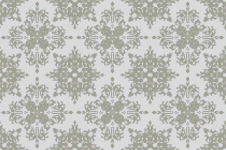 neutral textiles Traditional Ornamental Mosaic by Artaic