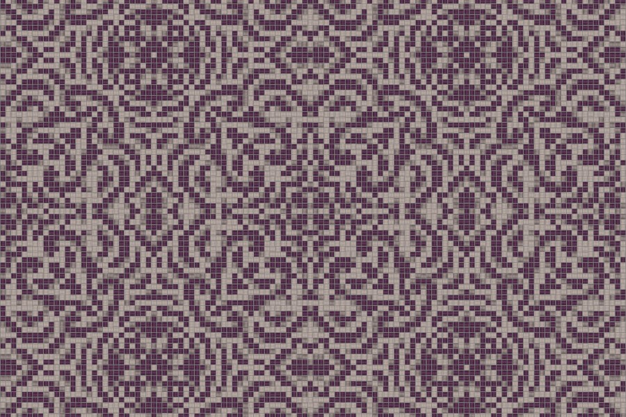 purple textiles Traditional Ornamental Mosaic by Artaic