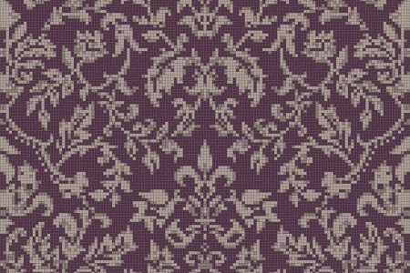 purple textiles Traditional Ornamental Mosaic by Artaic